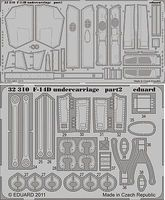 Eduard-Models F14D Undercarriage for Trumpeter Plastic Model Aircraft Accessory 1/32 Scale #32310