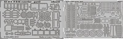 Eduard Models F84G Exterior for Hobby Boss -- Plastic Model Aircraft Accessory -- 1/32 Scale -- #32314