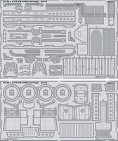Eduard-Models P61A/B Undercarriage for HBO Plastic Model Aircraft Accessory 1/32 Scale #32334