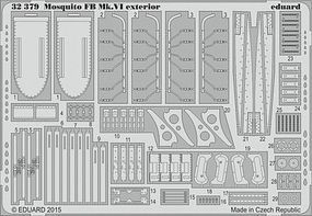 Eduard-Models Mosquito Mk VI Exterior for Tamiya Plastic Model Aircraft Accessory 1/32 Scale #32379