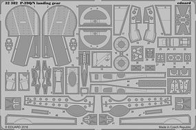Eduard-Models P39Q/N Landing Gear for Kitty Hawk Plastic Model Aircraft Accessory 1/32 Scale #32382