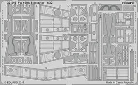 Eduard-Models 1/32 Aircraft- Fw190A8 Exterior for RVL