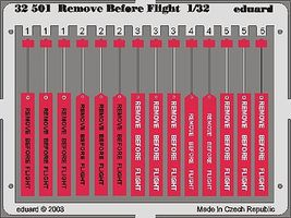 Eduard-Models Remove Before Flight Tags Plastic Model Aircraft Accessory 1/32 Scale #32501
