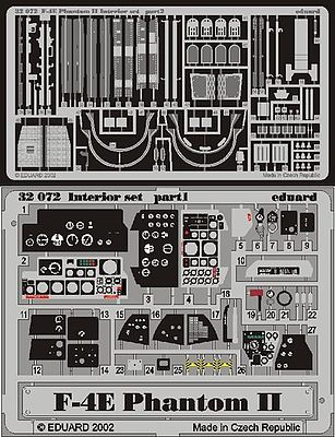 Eduard-Models F4E Phantom II Interior Plastic Model Aircraft Accessory 1/32 Scale #32503