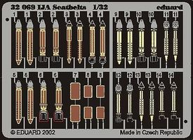 Eduard-Models Seatbelts IJA (Painted) Plastic Model Aircraft Accessory 1/32 Scale #32504
