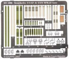 Eduard-Models Photo Etch Seatbelts USAF & USN WWII Plastic Model Aircraft Decal 1/32 Scale #32506
