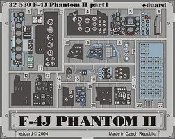 Eduard-Models Aircraft- F4J Phantom II or TAM Plastic Model Aircraft Accessory 1/32 Scale #32530