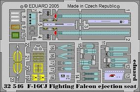 Eduard-Models Aircraft- F16CJ Fighting Falcon Ejection Seat Plastic Model Aircraft Accessory #32546