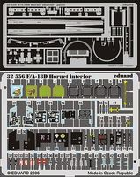 Eduard-Models Aircraft- F/A18D Interior Plastic Model Aircraft Accessory 1/32 Scale #32556