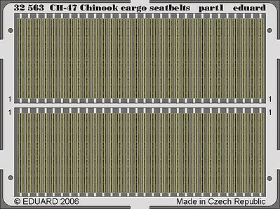 Eduard Models Aircraft- Seatbelts CH47A Chinook Cargo -- Plastic Model Aircraft Accessory -- 1/35 Scale -- #32563