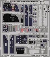 Eduard-Models Aircraft- Me262B1 Schwalbe Interior Plastic Model Aircraft Accessory 1/32 Scale #32623