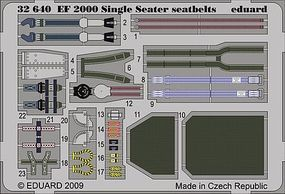 Eduard-Models Aircraft- EF2000 Seatbelts Plastic Model Aircraft Accessory 1/32 Scale #32640