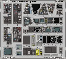 Eduard-Models Aircraft- F14D Interior Plastic Model Aircraft Accessory 1/32 Scale #32707