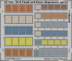 Eduard-Models Aircraft- AV8 Chaff & Flare Dispensers Plastic Model Aircraft Accessory 1/32 Scale #32723