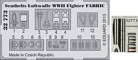 Eduard-Models Aircraft- WWII Luftwaffe Fabric-Type Seatbelts Plastic Aircraft Accessory 1/32 Scale #32773