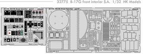 Eduard-Models Aircraft- B17G Front Interior Plastic Model Aircraft Accessory 1/32 Scale #32775