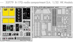 Eduard-Models Aircraft- B17G Radio Compartment Plastic Model Aircraft Accessory 1/32 Scale #32779