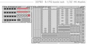 Eduard-Models Aircraft- B17G Bomb Rack Plastic Model Aircraft Accessory 1/32 Scale #32782