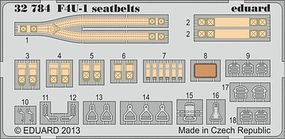 Eduard-Models Aircraft- F4U Seatbelts Plastic Model Aircraft Accessory 1/32 Scale #32784