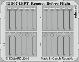 Eduard-Models Aircraft- Remove Before Flight Fabric Plastic Model Aircraft Accessory 1/32 Scale #32807