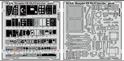 Eduard 1:32 Mosquito FB Mk.VI interior PE Detail Set For TAMIYA #32849
