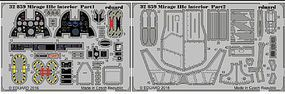 Eduard-Models Mirage IIIc Interior for ITA (Painted) Plastic Model Aircraft Accessory 1/32 Scale #32859