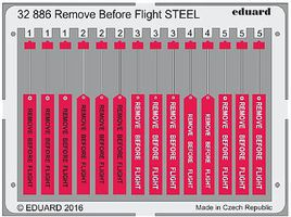Eduard-Models Remove Before Flight Steel (Painted) Plastic Model Aircraft Accessory 1/32 #32886