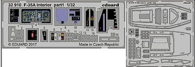 Eduard-Models F35A Interior for ITA (Painted) Plastic Model Aircraft Accessory 1/32 Scale #32910