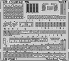 Eduard-Models 1/32 Aircraft- Fokker VII for Wingnut Wings (Painted)