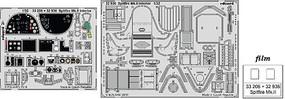 Eduard-Models 1/32 Aircraft- Spitfire Mk II Interior for RVL (Painted)
