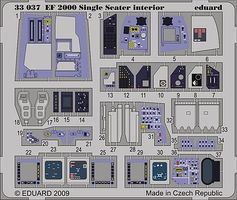 Eduard-Models Aircraft- EF2000 Interior Plastic Model Aircraft Accessory 1/32 Scale #33037