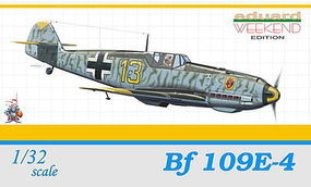 Eduard-Models Bf109E4 9/JG54 Lt. J Eberles Fighter Aug. 1940 Plastic Model Airplane Kit 1/32 Scale #3403