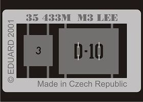 Eduard-Models Armor- M3 Lee Plastic Model Vehicle Accessory 1/35 Scale #35433