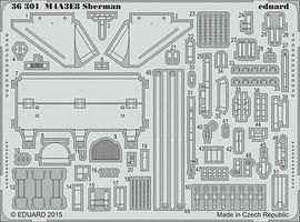 Eduard-Models Armor- M4A3E8 Sherman Plastic Model Vehicle Accessory 1/35 Scale #36301