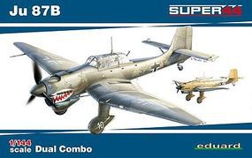 Eduard-Models Ju87B Dual Combo (Limited Edition) Plastic Model Airplane Kit 1/144 Scale #4431