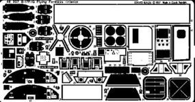 Eduard-Models Aircraft- B17F/G Interior Plastic Model Aircraft Accessory 1/48 Scale #48207