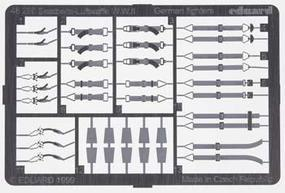Eduard-Models Photo Etch Seatbelts Luftwaffe Fighters Plastic Model Aircraft Decal 1/48 Scale #48290