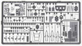 Eduard Models Photo Etch Set P-61 Black Widow Interior -- Plastic Model Aircraft Decal -- 1/48 -- #48382