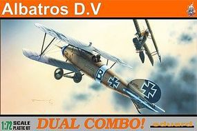 Eduard-Models Albatros D V Fighter Dual Combo Plastic Model Airplane Kit 1/72 Scale #7021