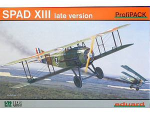 Eduard Models Spad XIII USAAC Aircraft -- Plastic Model Airplane Kit -- 1/72 Scale -- #7053