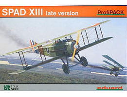 Eduard-Models Spad XIII USAAC Aircraft Plastic Model Airplane Kit 1/72 Scale #7053