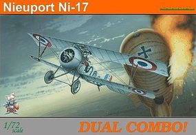 Eduard-Models Nieuport Ni17 BiPlane Dual Combo Plastic Model Airplane Kit 1/72 Scale #7071