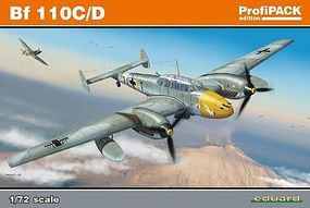 Bf110C/D Fighter (Profi-Pack) Plastic Model Airplane Kit 1/72 Scale #7081