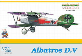 Eduard-Models Albatros D V BiPlane (Weekend Edition) Plastic Model Airplane Kit 1/72 Scale #7402