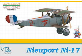 Eduard-Models Nieuport Ni17 BiPlane 1916 (Weekend Edition) Plastic Model Airplane Kit 1/72 Scale #7403