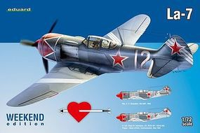 Eduard-Models La7 Fighter (Weekend Edition) Plastic Model Airplane Kit 1/72 Scale #7425