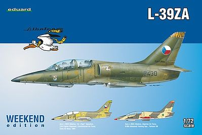Eduard Models L39ZA Aircraft (Weekend Edition) -- Plastic Model Airplane Kit -- 1/72 Scale -- #7427