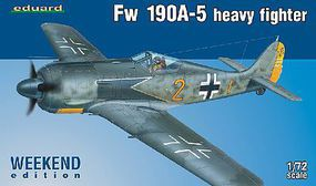 Fw190A5 Heavy Fighter (Weekend Edition Plastic) Plastic Model Airplane Kit 1/72 #7436