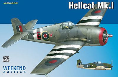Eduard-Models Hellcat Mk.I Fighter (Weekend Edition) Plastic Model Airplane Kit 1/72 Scale #7437