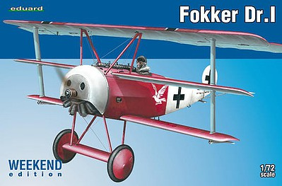 Eduard-Models Fokker Dr.I TriPlane (Weekend Edition) Plastic Model Airplane Kit 1/72 Scale #7438